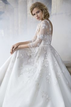 e6384835a4 Style 6751 Rogers Hayley Paige bridal gown - Ivory beaded net long sleeve  bridal ball gown