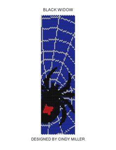 Black Widow Peyote Bracelet Pattern ((Buy 2 Patterns Get 1 Free)) via Etsy