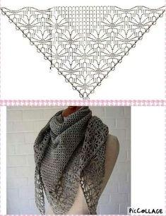 Exceptional Stitches Make a Crochet Hat Ideas. Extraordinary Stitches Make a Crochet Hat Ideas. Crochet Shawls And Wraps, Knitted Shawls, Crochet Scarves, Crochet Clothes, Crochet Diy, Love Crochet, Beautiful Crochet, Crochet Diagram, Crochet Chart