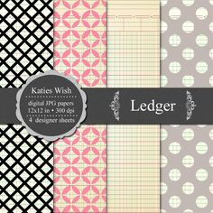 free Ledger digital paper kit - use as a background for labels