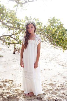 Haven Maxi Dress - Off white/ Ivory - Tea Princess