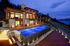 2.55 acres, 7400 sqft of lakeside community residence on Okanagan Lake, Kelowna, British Columbia.
