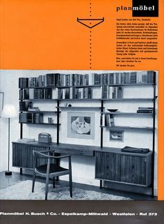 "Vintage ad for Olof Pira shelving system - <span class=""node-unpublished"">Olof Pira</span> - String Furniture"