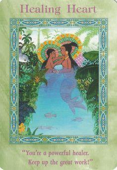 Healing Heart Card Extended Description - Magical Mermaids & Dolphins Oracle Cards by Doreen Virtue Angel Guidance, Spiritual Guidance, Spiritual Wisdom, Angel Readings, Oracle Tarot, Healing Heart, Doreen Virtue, Divine Light, Angel Cards