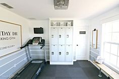 42 Popular Home Gym Room Design Ideas For Your Family. Getting into shape doesn't mean you have to go to a gym weekly and work out. You can actually get plenty of exercise at home, by allocating a r. Workout Room Home, Gym Room At Home, Home Gym Decor, Workout Rooms, Home Gym Garage, Basement Gym, Basement Kitchenette, Basement Storage, Basement Ideas