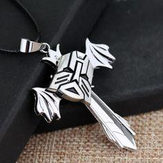 Movie Transformers Optimus Prime Mask Pendant Necklace Rotatable Jewelry - Mopixie Store | Mopixiestore.com