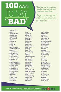 100 Ways to Say Bad