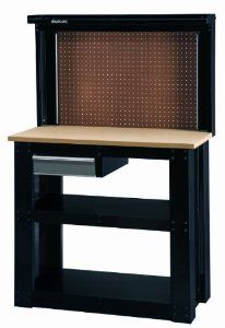 Stack-On SO-402 40-Inch Steel Workbench with Back Wall Storage by StackOn. Save 8 Off!. $229.99. From the Manufacturer                The Stack-On SO-402 Steel Workbench with Back Wall can help you to create your own work center with this new workbench from Stack-On! This workbench is built to stand up to everyday use and features inset steel end panels which provide greater strength. The Steel top shelf and 2 full-length bottom shelves provide ample storage and structural strength. ...