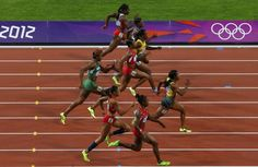 Jamaica won the first round. Shelly-Ann Fraser-Pryce is sprint queen once again