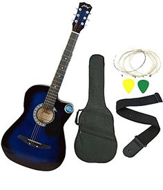 Jixing JXNG 6 Strings Acoustic Guitars With Combo (Blue)-$40.601
