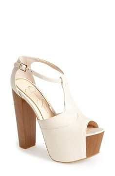 Free shipping and returns on Jessica Simpson 'Dany' Sandal at Nordstrom.com. Ultra-chunky wooden platform and heel provide bold elevation to a vintage-inspired sandal styled with a narrow ankle strap.
