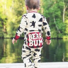 Bear Bum Romper. Love how darling this little boy looks!  One of my fav brands.