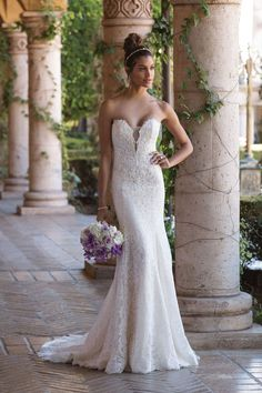 c479ba095b2 Sincerity Bridal - Style 4029  Plunging V-Neck Venice Lace Fit and Flare  Bridal