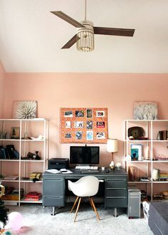I promised to share my favorite corals, blushes, and pink paint colors with you this week. While I picked these colors with my office in mind, these pink paint colors would also look great in nurseries, playrooms, and guest bedrooms. One of my main goals is to avoid pepto-bismol pink (am I allowed t