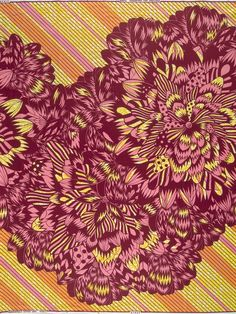 Green and Pink Print from Vlisco - curated by African Textiles, African Fabric, African Dress, African Print Fashion, African Prints, Ankara Fabric, African Design, Textile Design, Animal Print Rug