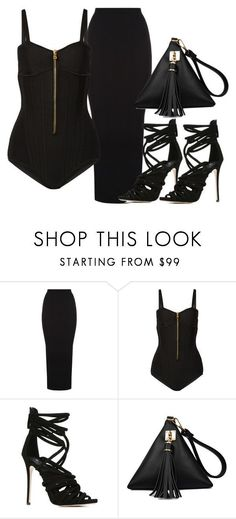 """BLACK OUT"" by samstyles001 on Polyvore featuring Balmain and Giuseppe Zanotti"