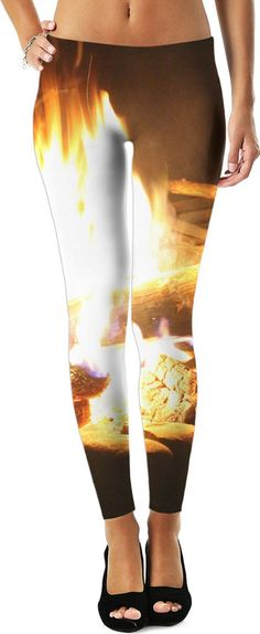 Campfire Leggings. These leggings feature a picture of the fire that kept us warm during our first camping trip! They are soft and comfy, perfect for a cozy night by the fire.