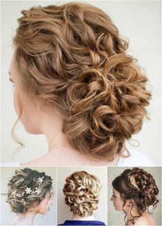 Curly Hair Updos for Bridesmaids   Messy Updo Hairstyles for Curly ...