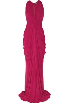 Alexander McQueen  Gathered crepe gown....may I have this in black please?  =)
