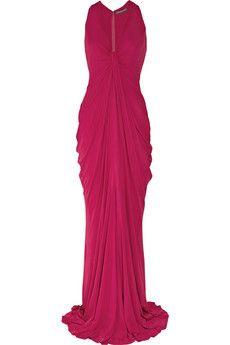 Alexander McQueen raspberry dress