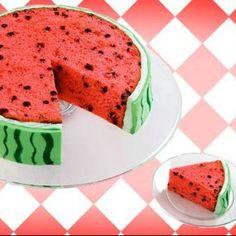 Cute summer cake! Jessie's choice! @Kate F. Rose...is there a fondant place here? I hear it's murder to actually make.