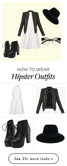 """""""❤️❤️❤️"""" by jadenblanche02 on Polyvore featuring New Look, Balmain and Maison Michel"""