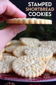 Cookie Dough Recipes, Baking Recipes, Dessert Recipes, Desserts, Shortbread Cookie Dough Recipe, Best Shortbread Cookies, Springerle Cookies, Almond Cookies, Stamp Cookies Recipe