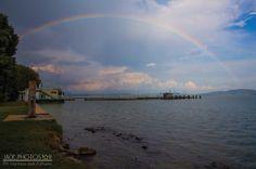 Arcobaleno sul lago trasimeno