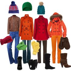 My real life South Park outfits lol... created by dotfrye.polyvore.com #southpark