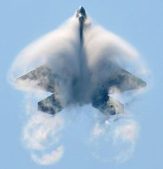 F-22 enclosed by vapour