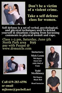 Women's Self-Defense Classes - See the Best Non-Lethal Self-Defense Weapon for Women at http://www.selfdefensegearco.com/MacePepperGun.htm