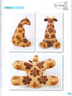 African Flower Giraffe Pattern (not in English) 4/5