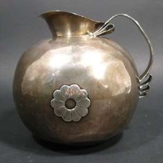 Spratling Mexican sterling silver water pitcher, bulbous form, circa mid-20th century