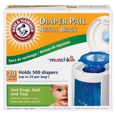 Arm & Hammer Diaper Pail Bag Refills (20 Pack) 12.47 target