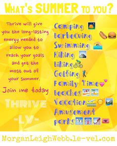 Thrive is a supplement that fills all of your nutritional gaps. It gives you the vitamins, minerals, amino acids, probiotics, ect. that your body needs to function at its highest ability. With Thrive, you'll find yourself having more energy, an easier time managing your weight, sleeping better, you'll have excellent joint, immune system, and digestive system support, and so much more!! Join my team today!  #healthy #supplements #weightmanagment #Summerbody #Energy #Nutrition #Lifestyle…