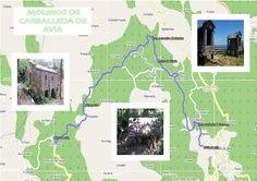 Ficha de la ruta de los molinos de Carballeda de Avia Map, Paths, Note Cards, Fotografia, Location Map, Maps