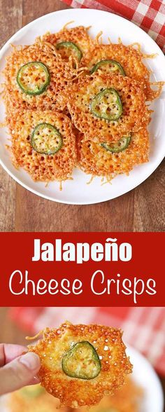 Crispy, very flavorful jalapeño cheese crisps are the perfect low carb, gluten free snack. Serve them as a party appetizer, or make them for game day!