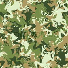 Seamless frog camouflage pattern