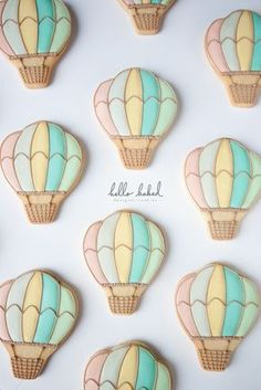 Vintage Hot-Air Balloons hello baked