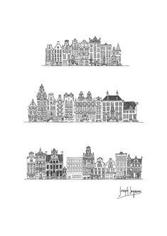 Amsterdam Architecture Postcard