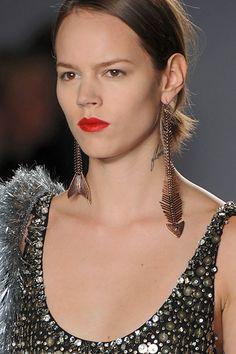 Isaac Mizrahi Fishbone Earrings