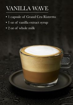 Start your day off with a classic Nespresso treat: the Vanilla Wave. When made with Grand Cru Ristretto, the sweet flavor is perfectly complemented with bold espresso notes!