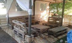 Pallet Deck - DIY Patio Furniture | 101 Pallet Ideas