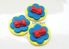 Edible Cupcake toppers SNOW WHITE and the 7 by PirateDessert, $10.00