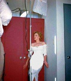Marilyn photographed by Harold Lloyd during a photo session with Philippe Halsman, 1952.