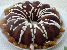 Mazsolás kuglóf recept Doughnut, Desserts, Food, Tailgate Desserts, Deserts, Essen, Postres, Meals, Dessert