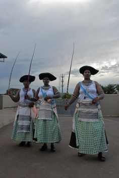 Participants in an annual South African traditional dance festival