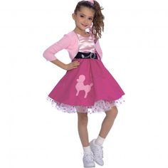 50s Girl Kids Costume