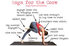Pin it! Yoga pose for the core, and good tips for stepping to the front of the mat from down dog.