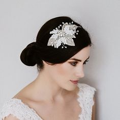 Cassillis lassie and pearl Leafy Side Headband Miranda Templeton stocked at Lily Luna